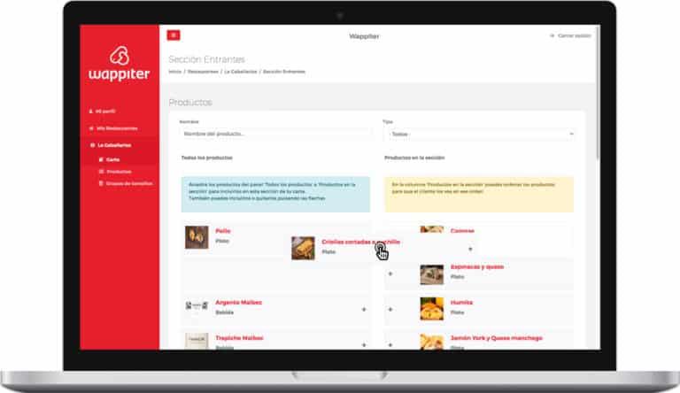 Carta digital wappiter Panel Admin Programa para hacer menus de restaurantes bg5