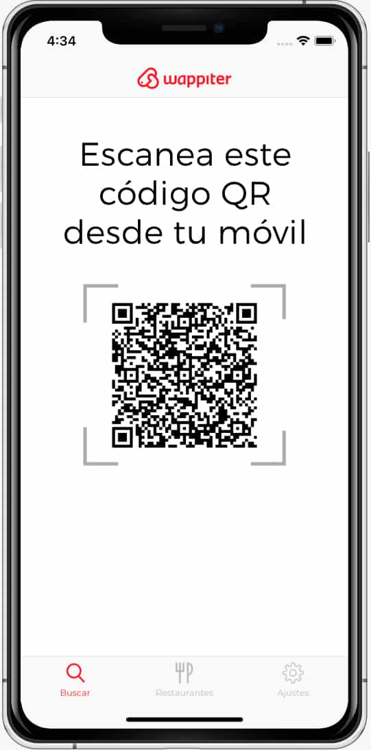 Carta digital wappiter app escanear qr code bg2 vista movil